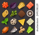 food icon set 2 | Shutterstock .eps vector #249158119