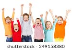 happiness group children with... | Shutterstock . vector #249158380