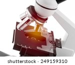 Microscope With Lighting Effect