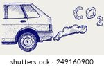 close up of a car's fumes... | Shutterstock .eps vector #249160900