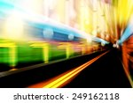 abstract image speed in the... | Shutterstock . vector #249162118