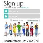 sign up register online...   Shutterstock . vector #249166273