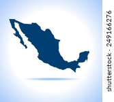 mexico map | Shutterstock .eps vector #249166276