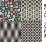 seamless patterns or backgrounds | Shutterstock .eps vector #249167638