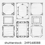 hand drawn frames set with...   Shutterstock .eps vector #249168088