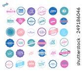 retro premium quality labels set | Shutterstock .eps vector #249186046