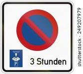 german traffic sign  parking... | Shutterstock . vector #249207979