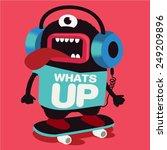 skater monster | Shutterstock .eps vector #249209896