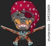 Vector Dog Rottweiler Pirate...