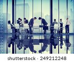 business people bowing... | Shutterstock . vector #249212248