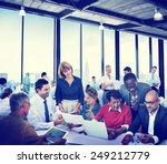 diverse business people working ... | Shutterstock . vector #249212779