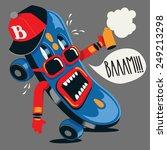 skateboard monster   Shutterstock .eps vector #249213298