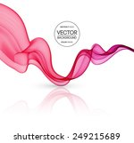 vector abstract curved lines... | Shutterstock .eps vector #249215689