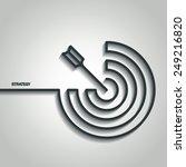 vector illustration of outline... | Shutterstock .eps vector #249216820