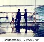 business people handshake...   Shutterstock . vector #249218704