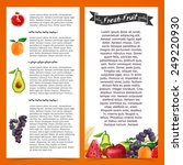 template flyer or brochure with ... | Shutterstock .eps vector #249220930