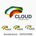modern cloud company logo set ...   Shutterstock .eps vector #249224980