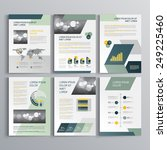 gray brochure template design... | Shutterstock .eps vector #249225460