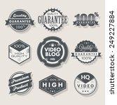 set of vintage labels. | Shutterstock .eps vector #249227884