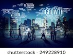 global business people commuter ... | Shutterstock . vector #249228910