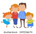 parents with their children.... | Shutterstock .eps vector #249236674
