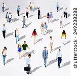 diverse diversity ethnic... | Shutterstock . vector #249238288