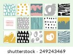 set of 15 creative cards. hand... | Shutterstock .eps vector #249243469