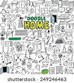 Big Set Vector Doodle Home...
