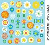 mod flowers | Shutterstock .eps vector #249248236