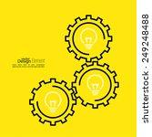 gears symbol and bulb light....   Shutterstock .eps vector #249248488