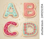 hand drawn letters of the... | Shutterstock .eps vector #249251554