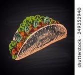 tacos sharp color illustration... | Shutterstock .eps vector #249252940