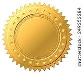 blank golden label vector... | Shutterstock .eps vector #249253384