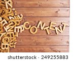 word content made with block... | Shutterstock . vector #249255883