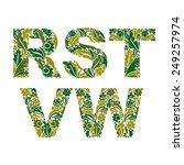 ornamental typescript  letters... | Shutterstock .eps vector #249257974