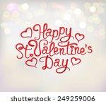 happy st. valentine's day... | Shutterstock .eps vector #249259006