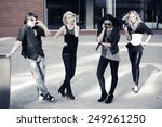group of young fashion men and... | Shutterstock . vector #249261250