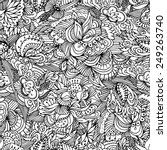 floral seamless pattern. | Shutterstock .eps vector #249263740