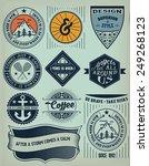 vector. vintage insignias  ... | Shutterstock .eps vector #249268123