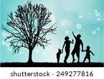 family silhouettes | Shutterstock .eps vector #249277816