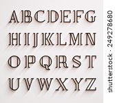 vector latin alphabet with... | Shutterstock .eps vector #249278680