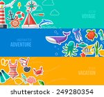 summer banners with marine... | Shutterstock .eps vector #249280354
