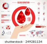 donor infographics. icons set... | Shutterstock .eps vector #249281134