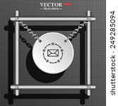 white circle with chains in a... | Shutterstock .eps vector #249285094