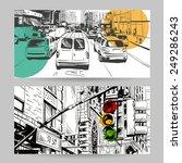 set of city banner design...   Shutterstock .eps vector #249286243