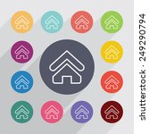 home outline circle  flat icons ... | Shutterstock .eps vector #249290794