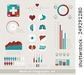 medical infographic set in flat ... | Shutterstock .eps vector #249291280