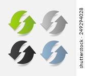 realistic design element  arrow ... | Shutterstock . vector #249294028