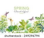 Watercolor Vector Spring...