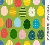 decorative easter eggs seamless ... | Shutterstock .eps vector #249298189